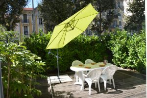 parasol table