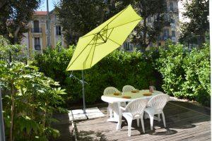parasol table